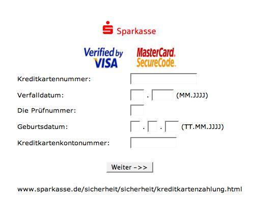 Visa Securecode Vergessen