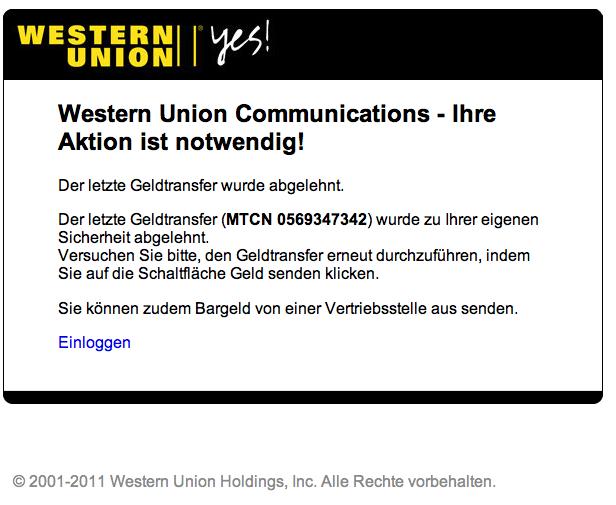 ist western union sicher